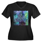 Dimensional Chill Abstract Women's Plus Size V-Nec