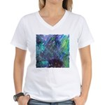 Dimensional Chill Abstract Women's V-Neck T-Shirt