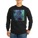 Dimensional Chill Abstract Long Sleeve Dark T-Shir