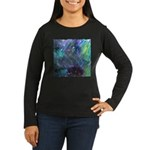 Dimensional Chill Abstract Women's Long Sleeve Dar
