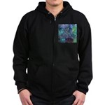 Dimensional Chill Abstract Zip Hoodie (dark)