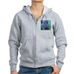 Dimensional Chill Abstract Women's Zip Hoodie