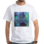 Dimensional Chill Abstract White T-Shirt