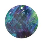 Dimensional Chill Abstract Ornament (Round)