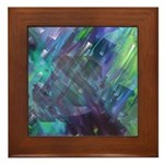 Dimensional Chill Abstract Framed Tile