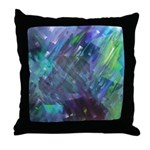 Dimensional Chill Abstract Throw Pillow