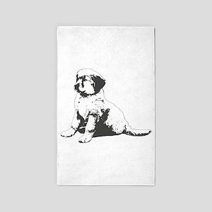Golden Retriever Puppy 2 3'x5' Area Rug