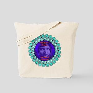 Malala Blue Diamond Tote Bag