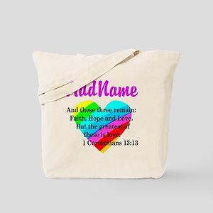 1 CORINTHIANS 13:13 Tote Bag