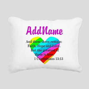 1 CORINTHIANS 13:13 Rectangular Canvas Pillow