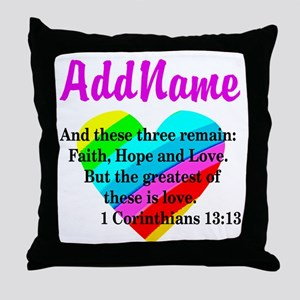 1 CORINTHIANS 13:13 Throw Pillow