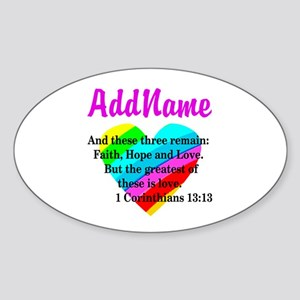 1 CORINTHIANS 13:13 Sticker (Oval)