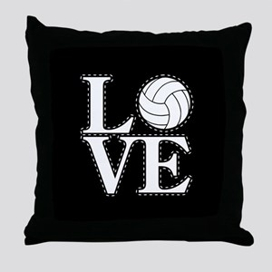 LOVE VOLLEYBALL BLK Throw Pillow