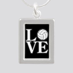 LOVE VOLLEYBALL BLK Necklaces