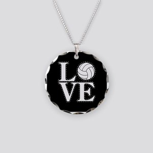 LOVE VOLLEYBALL BLK Necklace