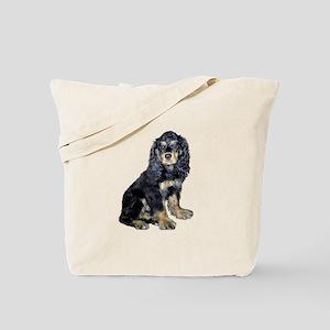 Cocker-black-tan Tote Bag