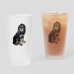 Cocker-black-tan Drinking Glass