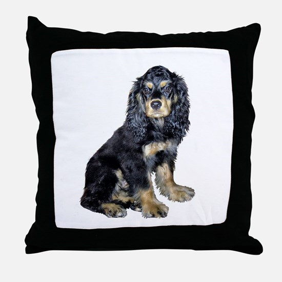 Cocker-black-tan Throw Pillow