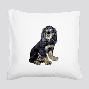 Cocker-black-tan Square Canvas Pillow