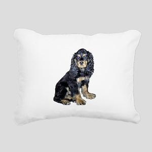 Cocker-black-tan Rectangular Canvas Pillow