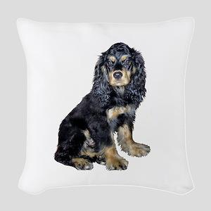 Cocker-black-tan Woven Throw Pillow