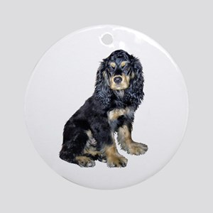 Cocker-black-tan Ornament (Round)