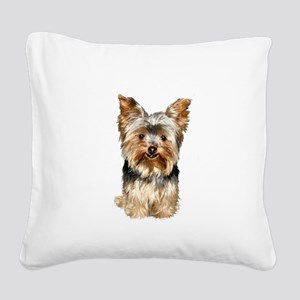 Yorkshire Terrier (#17) Square Canvas Pillow