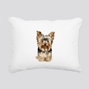Yorkshire Terrier (#17) Rectangular Canvas Pillow