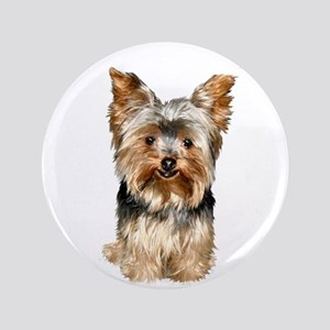 "Yorkshire Terrier (#17) 3.5"" Button"