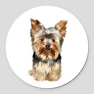 Yorkshire Terrier (#17) Round Car Magnet