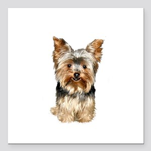 "Yorkshire Terrier (#17) Square Car Magnet 3"" x 3"""