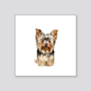 """Yorkshire Terrier (#17) Square Sticker 3"""" x 3"""""""