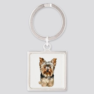Yorkshire Terrier (#17) Square Keychain