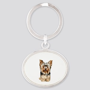 Yorkshire Terrier (#17) Oval Keychain
