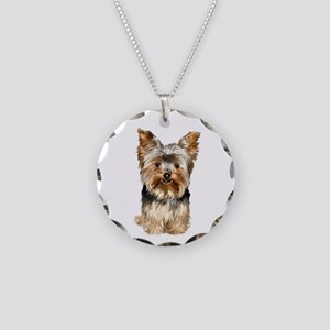 Yorkshire Terrier (#17) Necklace Circle Charm