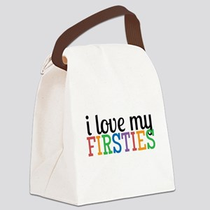Love My Firsties Canvas Lunch Bag
