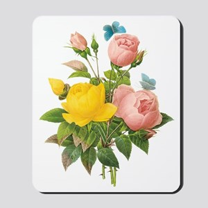Vintage Tea Roses by Redoute Mousepad