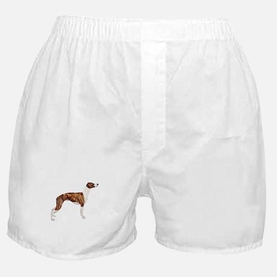 Whippet (brindle-Wht) Boxer Shorts