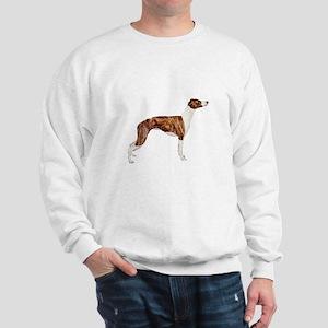 Whippet (brindle-Wht) Sweatshirt