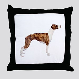 Whippet (brindle-Wht) Throw Pillow