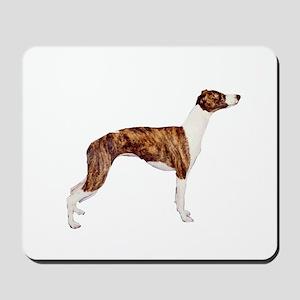 Whippet (brindle-Wht) Mousepad