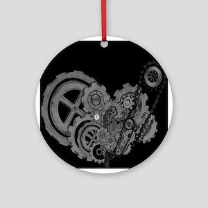 Steampunk Machinery (Monochrome) Ornament (Round)