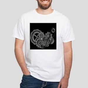 Steampunk Machinery (Monochrome) T-Shirt