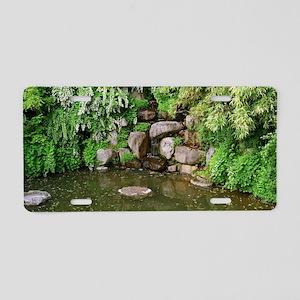 Pond Rocks Aluminum License Plate