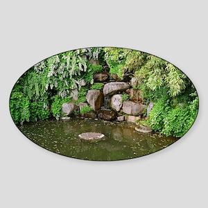 Pond Rocks Sticker (Oval)