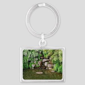 Pond Rocks Landscape Keychain