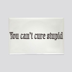 You can't cure stupid Rectangle Magnet
