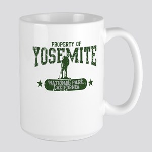 Yosemite Nat Park Hiker Guy Large Mug