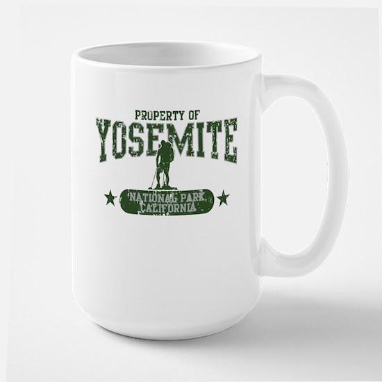 Yosemite Nat Park Hiker Guy Large Mug