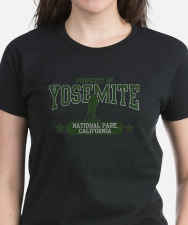 Yosemite Nat Park Hiker Guy Women's Dark T-Shirt